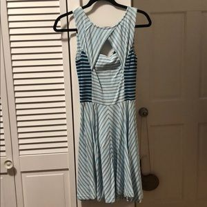 Armani Exchange blue and white dress